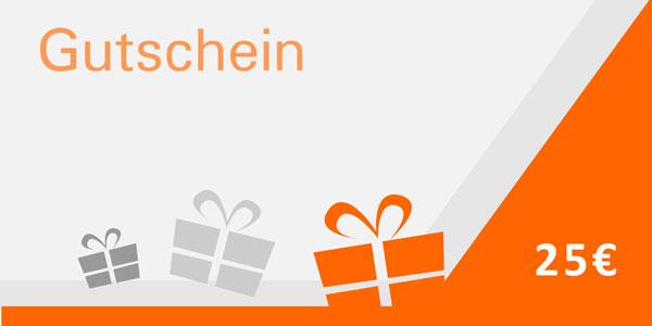 Geschenk-Gutschein 25€